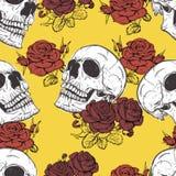 Rosas e crânios Imagens de Stock Royalty Free
