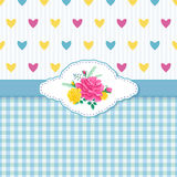 Rosas e Hearts1-01 Imagens de Stock