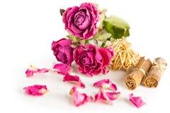 Rosas e hierbas secas Imágenes de archivo libres de regalías