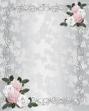 Rosas elegantes de la invitación de la boda Fotos de archivo libres de regalías