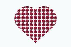 Rosas em meu coração Fotografia de Stock