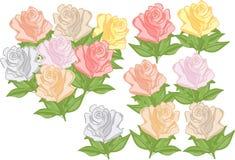 Rosas en estilo de la historieta Foto de archivo libre de regalías