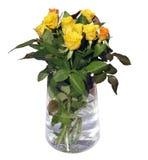 Rosas en un florero Fotografía de archivo