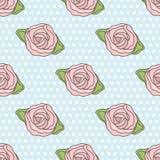 Rosas estilizados abstratas gráficas em cores preto e branco Teste padrão moderno sem emenda do vetor ilustração royalty free