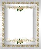 Rosas formais do branco do molde do convite Foto de Stock
