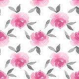rosas Fundo da aguarela Teste padrão sem emenda 15 Foto de Stock