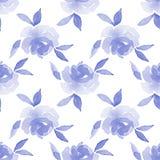 rosas Fundo da aguarela Teste padrão sem emenda 15 Fotografia de Stock