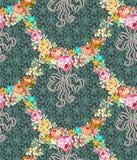 Rosas Garland Lace Seamless Pattern stock de ilustración