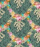 Rosas Garland Lace Seamless Pattern de Roccoco libre illustration