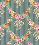 Rosas Garland Seamless Pattern de Roccoco ilustración del vector
