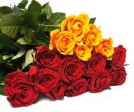 Rosas grandes do ramalhete fotos de stock