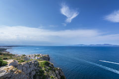 Rosas Gulf in Costa Brava from Montgo Cape , Catalonia, Spain Stock Image