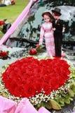Rosas Heart-shaped fotografia de stock