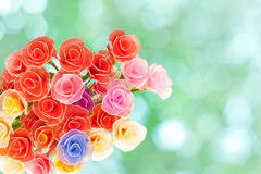 Rosas hechas a mano artificiales Fotografía de archivo