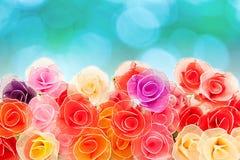 Rosas hechas a mano artificiales Fotos de archivo