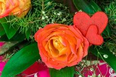 Rosas hermosas en el concepto de un día de fiesta Concepto de la boda Imágenes de archivo libres de regalías