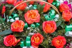 Rosas hermosas en el concepto de un día de fiesta Concepto de la boda Fotografía de archivo