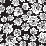 Rosas inconsútiles del modelo Imagenes de archivo