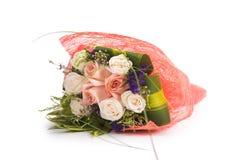 Rosas isoladas no fundo branco Imagens de Stock