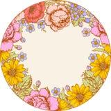 rosas Marco del círculo ilustración del vector