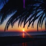 Rosas memories. Sunset at Rosas & x28;Spain& x29 Royalty Free Stock Images