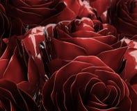 Rosas metálicas ilustración del vector