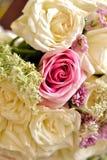 Rosas no arranjo de flor Imagens de Stock Royalty Free