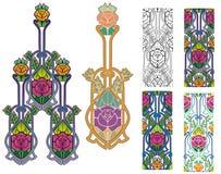Rosas ornamentado Imagens de Stock Royalty Free