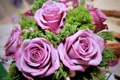 Rosas púrpuras de la boda Imagen de archivo