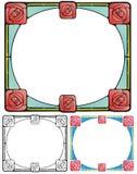 Rosas quadradas Fotografia de Stock
