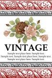 Rosas. Quadro. Flores. Cartão. Imagem de Stock Royalty Free