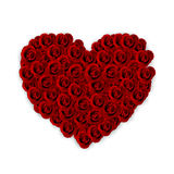 Rosas que dão forma ao coração do amor Fotos de Stock
