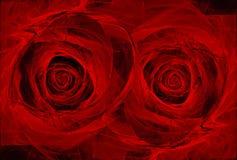 Rosas rojas stock de ilustración