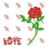 Rosas rojas ilustración del vector