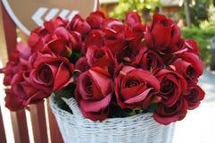 Rosas rojas artificiales Fotografía de archivo libre de regalías