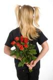 Rosas rojas como presente imagenes de archivo