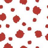 Rosas rojas de la terracota del estampado de flores inconsútil grandes y pequeñas flores en blanco Fotografía de archivo libre de regalías