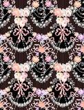 Rosas románticas Garland Multicolor Vector Seamless Pattern ilustración del vector