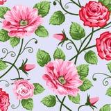 Rosas românticas ilustração do vetor