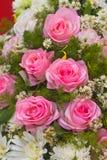 Rosas rosadas de la tela Fotos de archivo libres de regalías