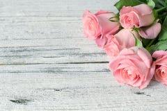 Rosas rosadas hermosas Foto de archivo libre de regalías