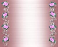 Rosas rosadas Wedding o invitación del partido stock de ilustración