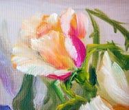 Rosas rosadas y amarillas de Vinage Imagen de archivo