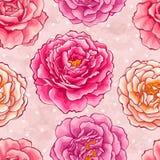 Rosas sem emenda Fotografia de Stock Royalty Free