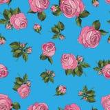 Rosas sem emenda do rosa do teste padrão ilustração do vetor