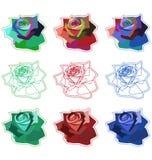 Rosas simples ilustração royalty free