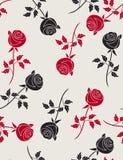 Rosas - teste padrão sem emenda Fotografia de Stock Royalty Free