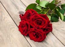 Rosas vermelhas frescas Foto de Stock