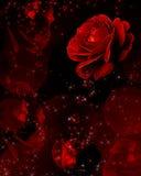 Rosas vermelhas que gotejam cristais ilustração do vetor