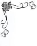 Rosas Wedding diseño de la vendimia de la invitación Imágenes de archivo libres de regalías